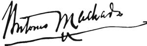 Firma Antono Machado